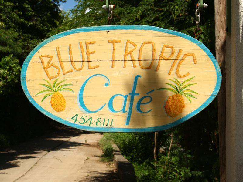 Blue Tropic  Cafe on The Hill at Bequia Beach